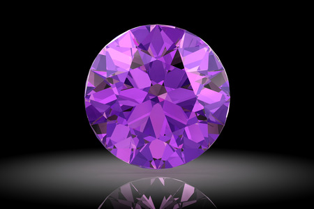 amethyst (high resolution 3D image) photo
