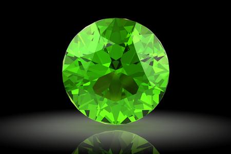 tsavorite: Peridot (high resolution 3D image)