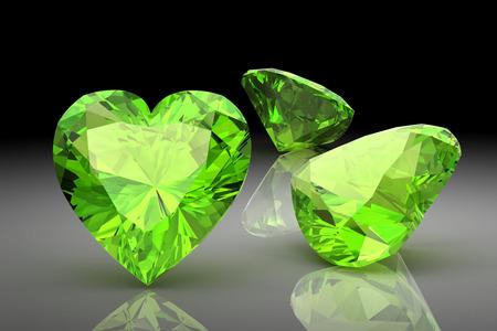 Peridot (high resolution 3D image) photo
