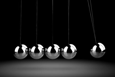 balancing: Balancing balls Newtons cradle Stock Photo