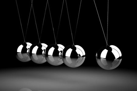 Balancing balls Newton's cradle 版權商用圖片