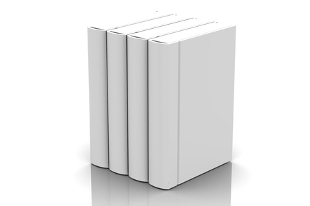white book on white background photo