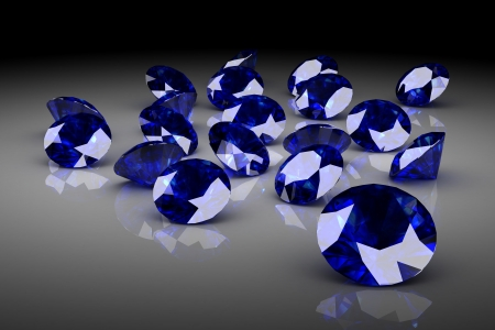 blue sapphire (high resolution 3D image) photo