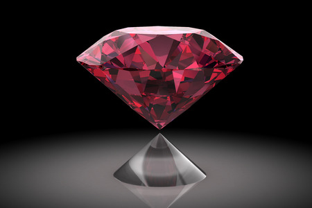 ruby: Ruby or Rodolite gemstone (high resolution 3D image) Stock Photo