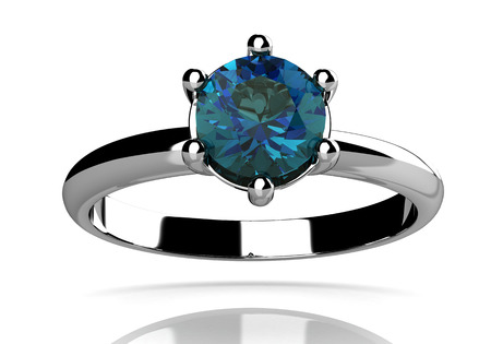 tanzanite: alexandrite ring (high resolution 3D image)