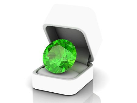 green tourmaline: Peridot (high resolution 3D image)