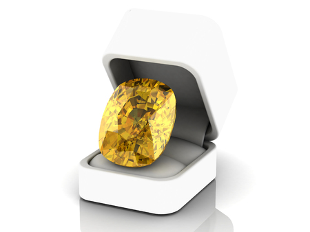 faceting: yellow sapphire (high resolution 3D image)