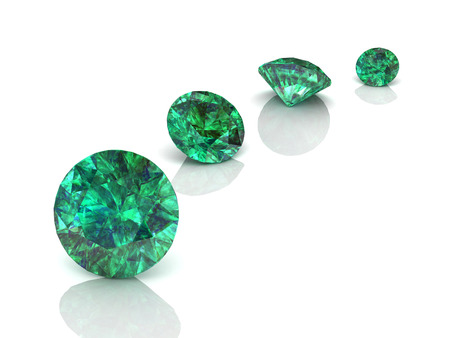 scintillation: emerald(high resolution 3D image)