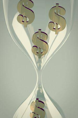 waste money: dollar