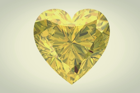 yellow sapphire on white background photo