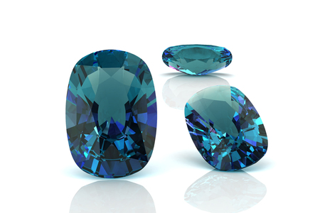 tanzanite: alexandrite (high resolution 3D image) Stock Photo