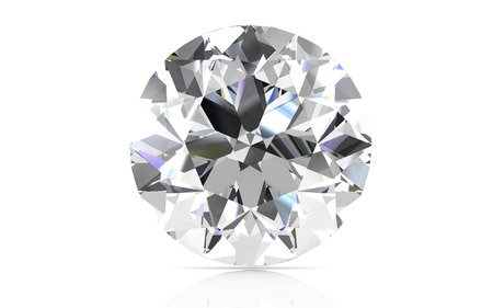 scintillation: diamond on white background (high resolution 3D image) Stock Photo