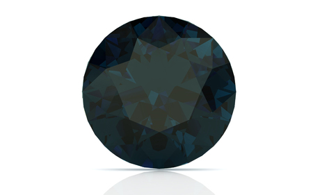 alexandrite on white background (high resolution 3D image) photo