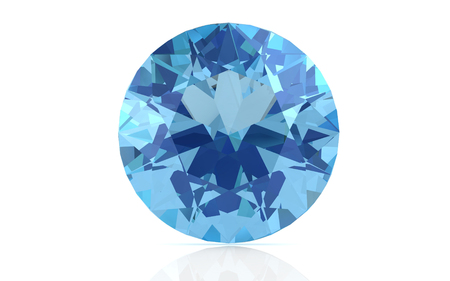 aquamarine on white background (high resolution 3D image) 스톡 콘텐츠