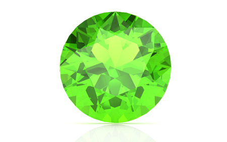 beryl: Peridot on white background (high resolution 3D image) Stock Photo