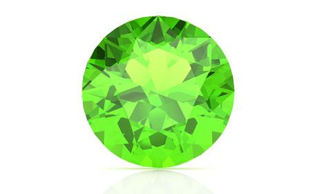 green tourmaline: Peridot on white background (high resolution 3D image) Stock Photo