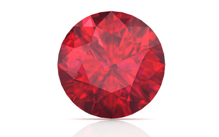 ruby ,Citrine on white background (high resolution 3D image)