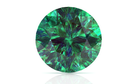 emerald on white background (high resolution 3D image)