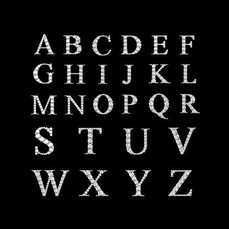 블랙에 고립 된 보석과 다이아몬드 문자 스톡 콘텐츠 - 26934671