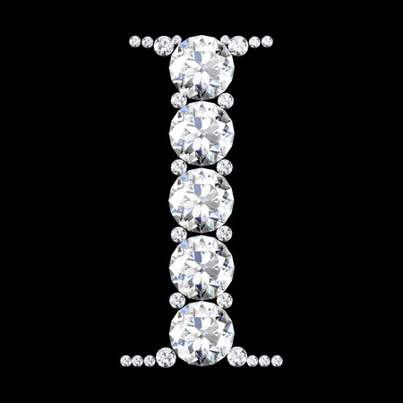 diamond letters: diamond letters with gemstones isolated on black