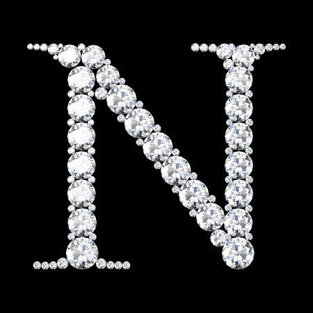 diamond letters: diamond letters with gemstones isolated on black