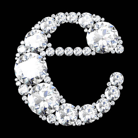 A stunning beautiful e set in diamonds photo