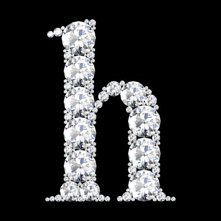 stunning: A stunning beautiful h set in diamonds Stock Photo