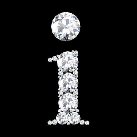A stunning beautiful i set in diamonds photo