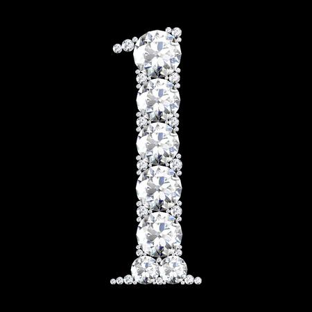 stunning: A stunning beautiful l set in diamonds
