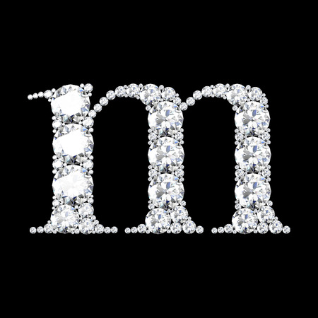 stunning: A stunning beautiful m set in diamonds