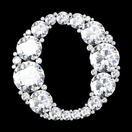stunning: A stunning beautiful o set in diamonds
