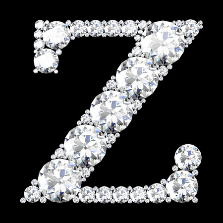 z stunning beautiful z set in diamonds photo