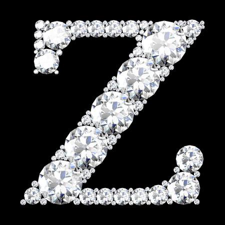 z stunning beautiful z set in diamonds photo