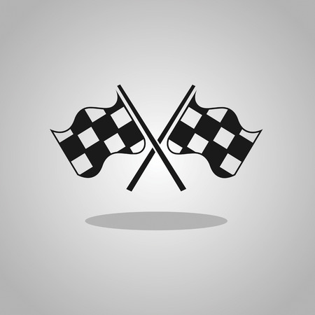 two crossed checkered flags: two crossed checkered flags