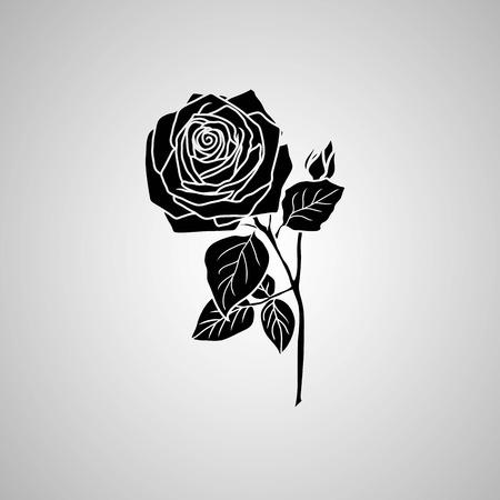 symbol decorative: rose symbol decorative illustration Illustration