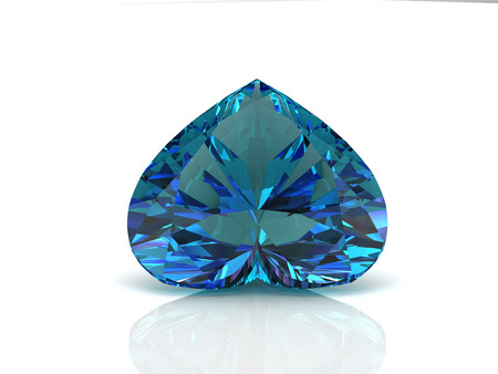 alexandrite on white background with high quality photo