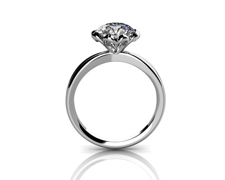 stetting: diamond ring on white background with high quality