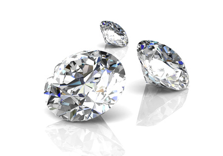 diamond on white background (high resolution 3D image) 版權商用圖片