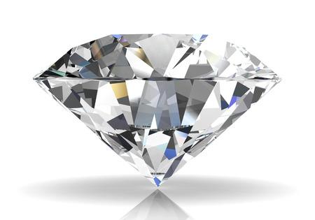 diamond on white background (high resolution 3D image) Zdjęcie Seryjne