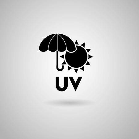 suntan lotion: UV icon