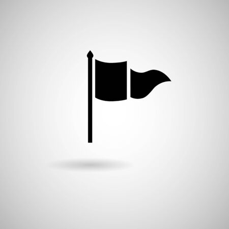Vector Waving Flags and Banners for Icons, Vector