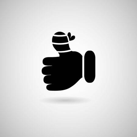 Injury hand finger Vector