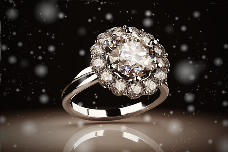 Gold wedding ring on background ( Vintage Style) 스톡 콘텐츠