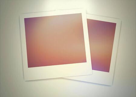 poloroid: Photo frame on white background ( Vintage Style)