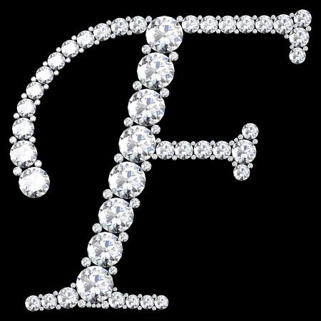 diamond letters: diamond letters with gemstones Stock Photo