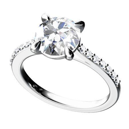 diamond rings: Ring.Vector illustration. Illustration