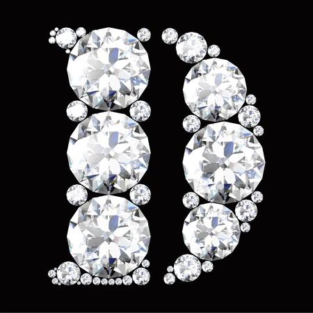 the black diamond: Letra D hecho de diamantes y piedras preciosas