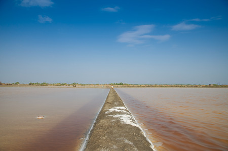 salina: Naklua Mass of salt in salt seaside farm