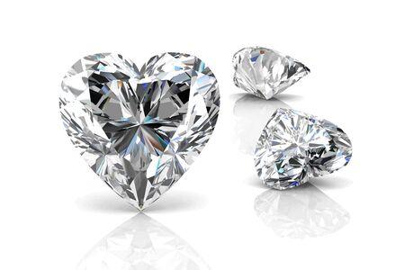 stetting: Diamond on white background .Vector illustration.
