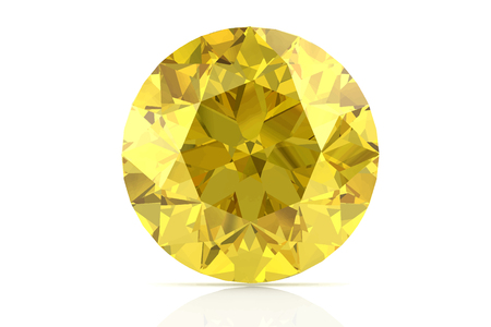 sapphire: yellow sapphire on white background.Vector illustration.